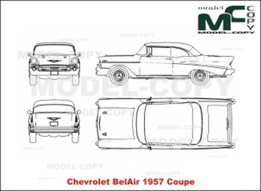 Chevrolet BelAir Coupe (1957) - 2D drawing (blueprints)