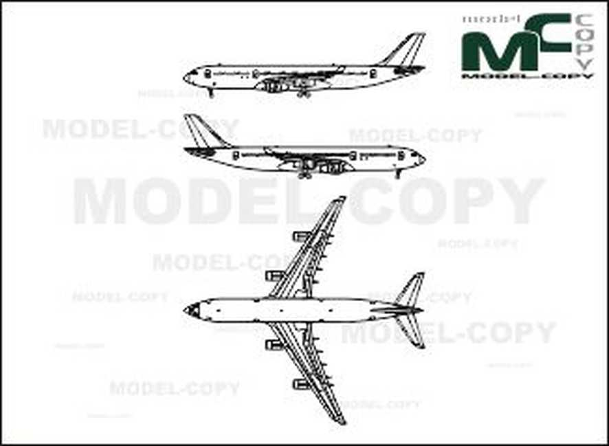 Airbus A340 - 2D drawing (blueprints)