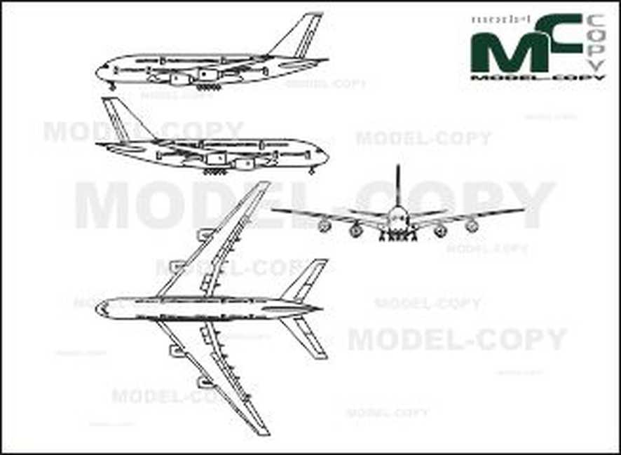 Airbus A 380 - 2D drawing (blueprints)