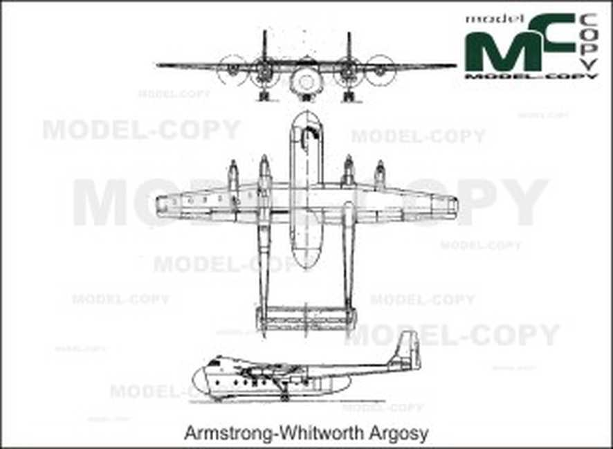 Armstrong-Whitworth Argosy - 2D drawing (blueprints)