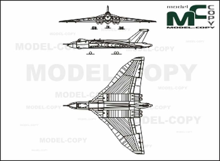 Avro Vulcan B Mk II - 2D drawing (blueprints)